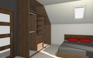 Sypialnia wizualizacja